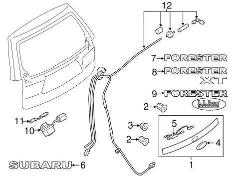 OEM NEW 2017-19 Subaru BRZ Ascent Trunk Deck Lid Trim Nut Flange Type 902370044