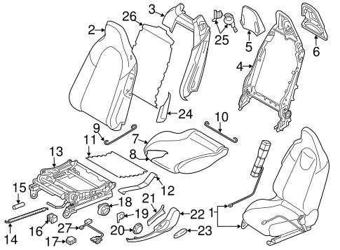 Front Seat Components For 2018 Mazda Mx 5 Miata