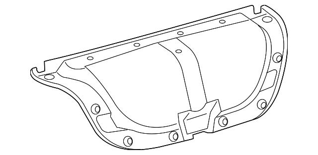 2007 2011 Toyota Camry Trunk Lid Trim 64719 06080 C0