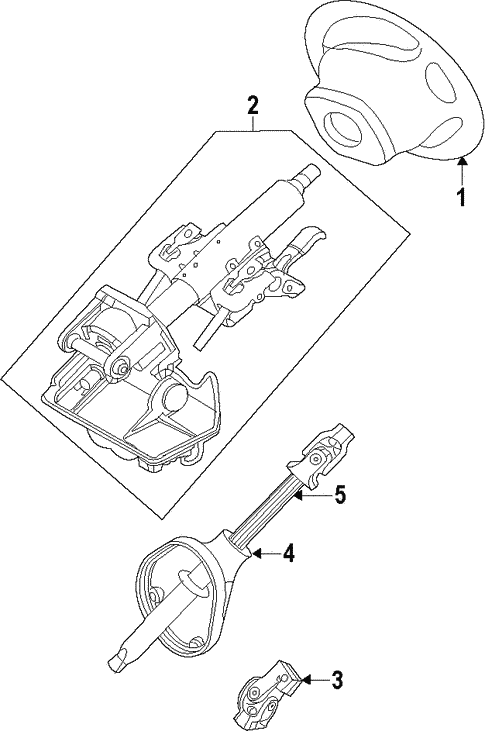 Steering/Steering Column for 2008 Ford Escape #1