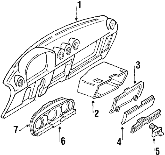 Glove Box Door - Mercedes-Benz (107-680-01-98-9007)