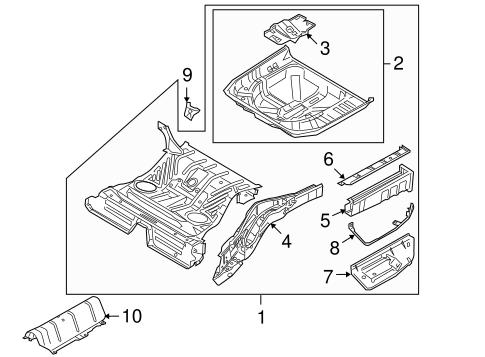 Rear Floor Rails For 2009 Mercury Sable