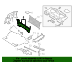 Rear Trim Panel - Ford (6E5Z-5411318-AAA)