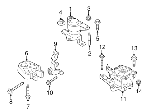 Engine & Trans Mounting for 2013 Ford Fusion | TascaParts.comTasca Parts