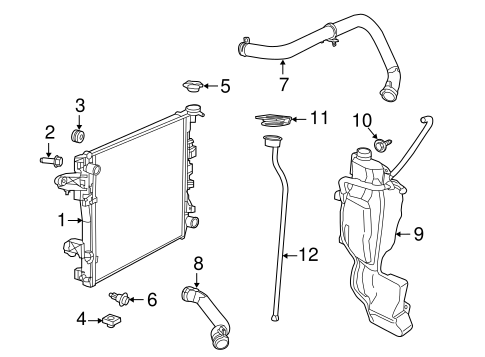 Radiator Components For 2015 Ram 1500
