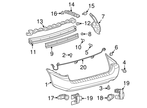 BODY/BUMPER & COMPONENTS - REAR for 2006 Toyota Sienna #1