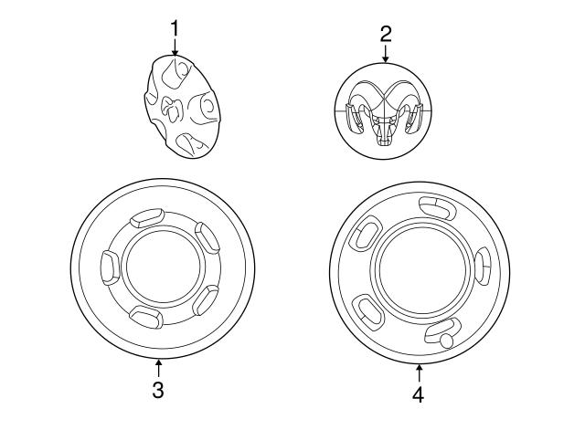 2003 2018 Mopar Wheel Cover 52106882ab