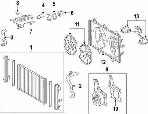 [SCHEMATICS_4JK]  Genuine OEM Radiator & Components Parts for 2016 Toyota RAV4 Hybrid XLE -  Olathe Toyota Parts Center | 2016 Toyota Rav4 Engine Diagram |  | Olathe Toyota Parts Center