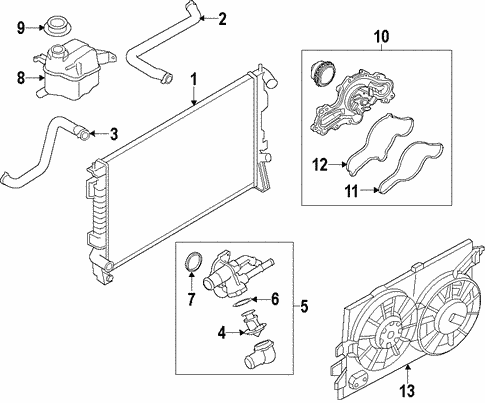 Cooling System/Cooling System for 2013 Ford Edge #1