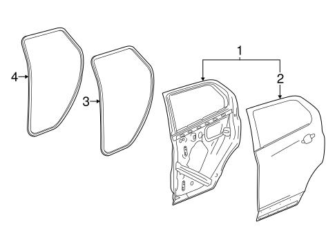 oem 2016 chevrolet trax door components parts. Black Bedroom Furniture Sets. Home Design Ideas