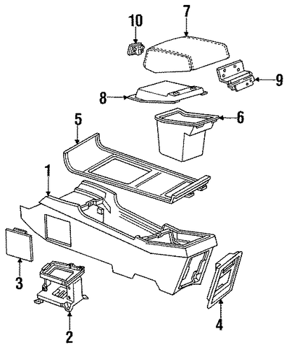 console parts for 1990 buick riviera