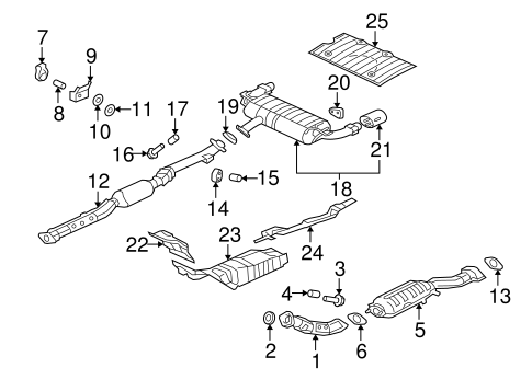 Mitsubishi Converter And Pipe 1584a350