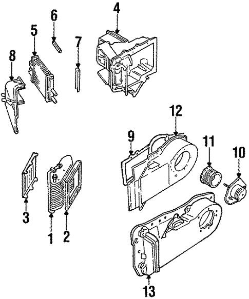 Oem 2002 Cadillac Eldorado Evaporator Heater Components Parts