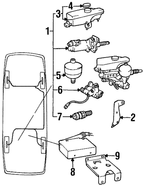 Abs Components For 1993 Saab 900 Order Euro Parts