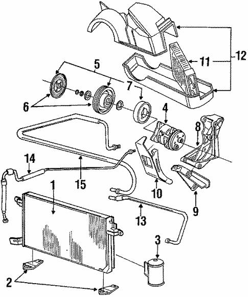 Oem Vw Condenser Compressor Lines For 1988 Volkswagen Jetta