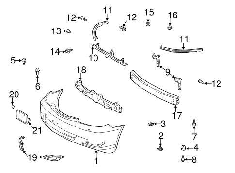 genuine oem bumper  u0026 components
