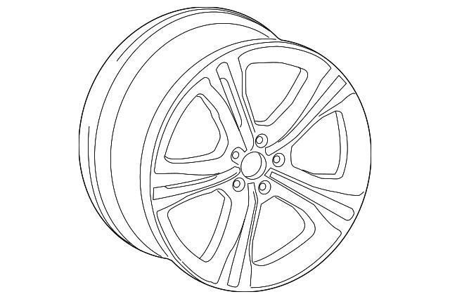 audi wheel  alloy  4g0