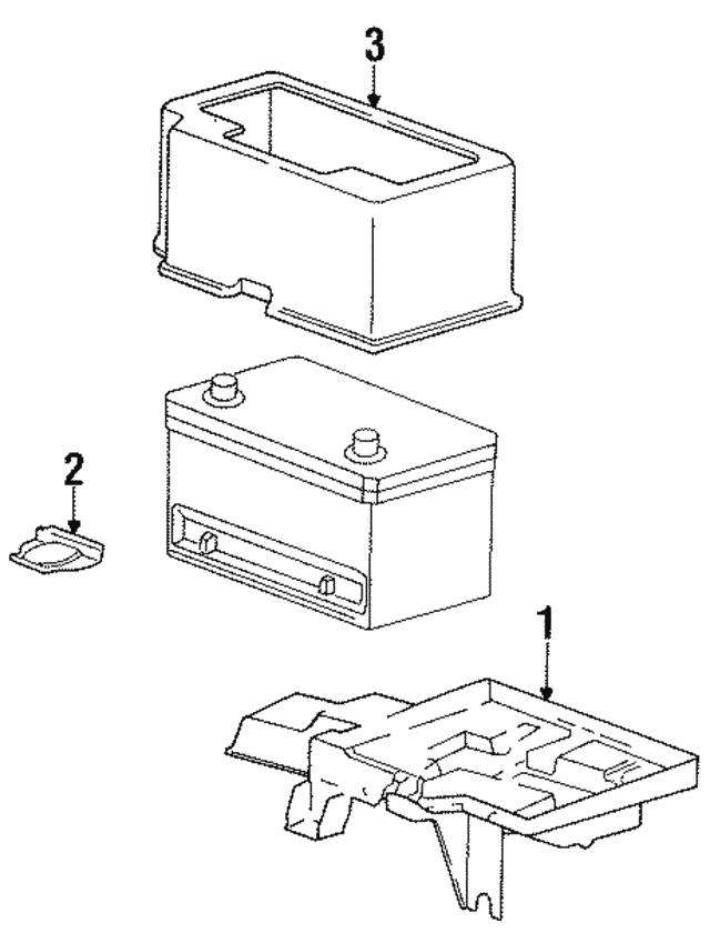 1996 2000 Mopar Battery Tray 4716768