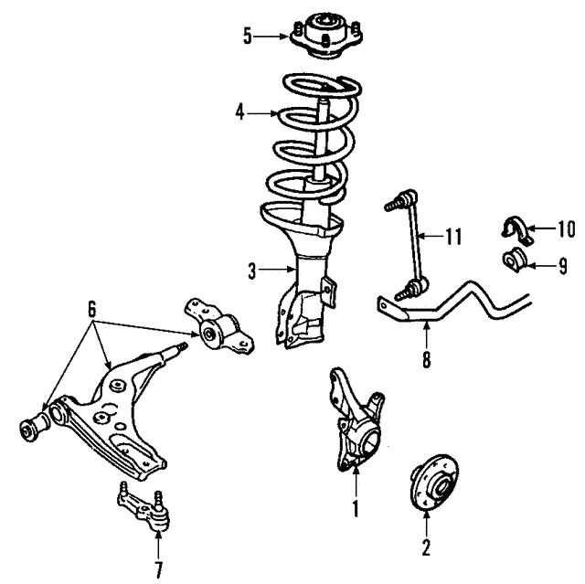 Lower Control Arm Ford Ar3z3079d: 1965 Ford Mustang Front Suspension Diagram At Sergidarder.com