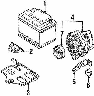 Battery For 1999 Kia Sephia Acura Parts Pr