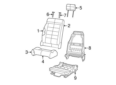 Front Seat Components For 2009 Jeep Wrangler