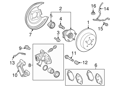 BRAKES/BRAKE COMPONENTS for 2012 Toyota Prius #2