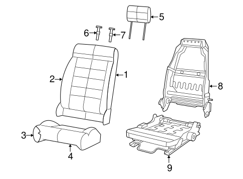 Front Seat Components For 2011 Jeep Wrangler