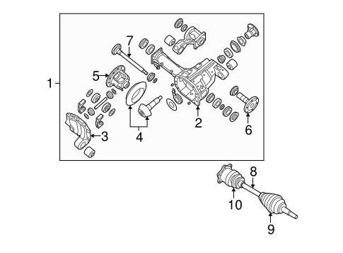 Carrier Front Axles For 2004 Infiniti Qx56