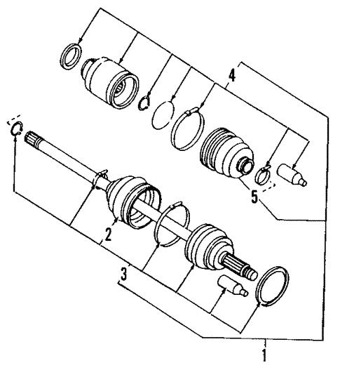 axle shafts  u0026 joints for 2008 subaru tribeca