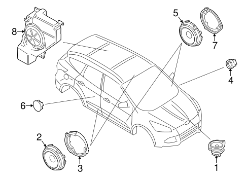 Oem 2014 Ford Escape Sound System Parts