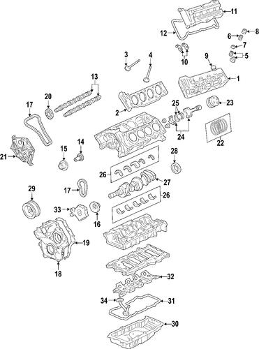 oem 2006 cadillac srx engine parts