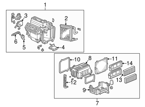 Motor Assembly, Air Mix