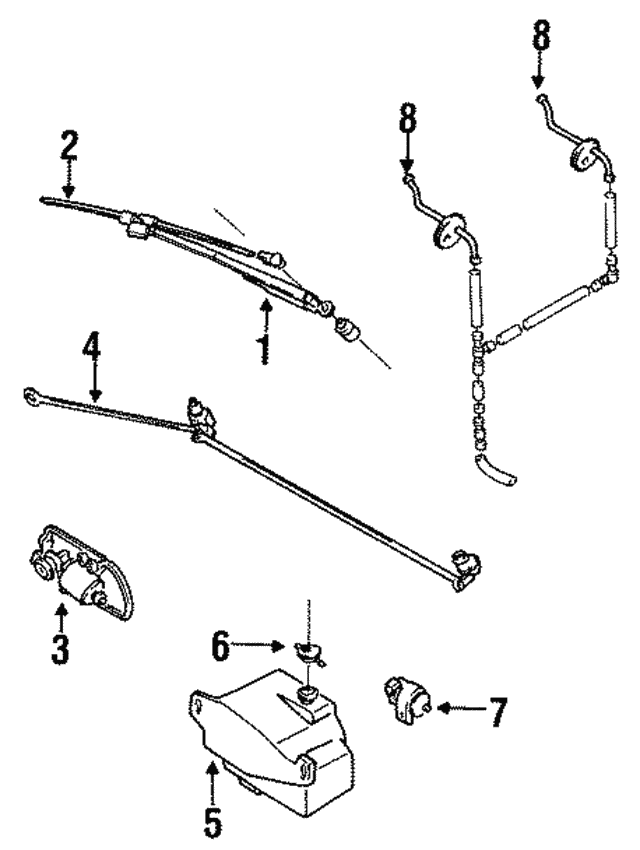 Wiper Arm - Mazda (UB76-67-321)