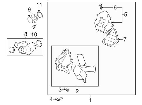 traverse engine diagram air intake for 2010 chevrolet traverse gmpartsdirect com  air intake for 2010 chevrolet traverse
