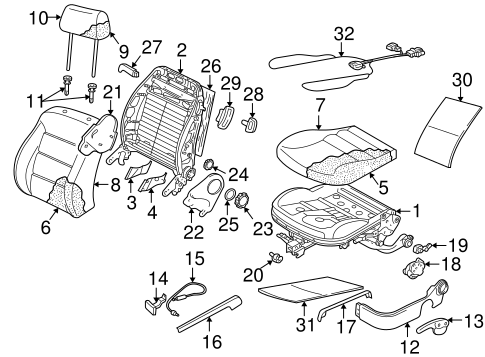 Front Seat Components For 2003 Volkswagen Golf