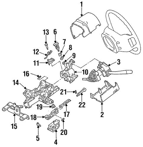 1992 Ford Aerostar Steering Column Diagram