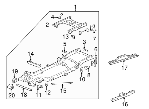 Chevy Silverado Seat Part Diagram