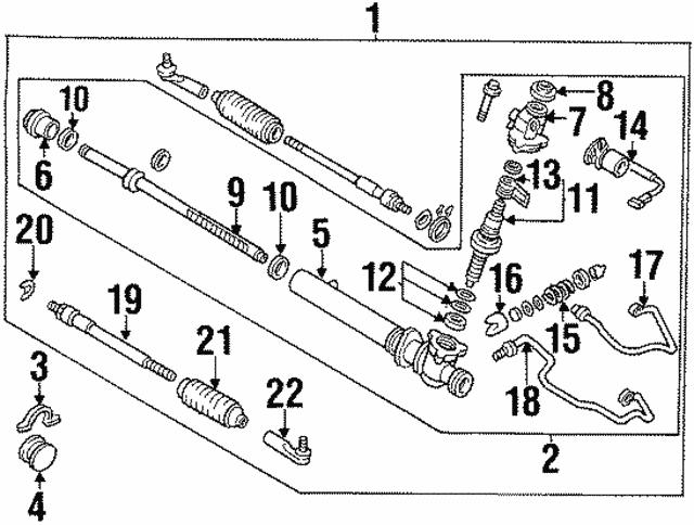 1993 2004 Infiniti Outer Tie Rod D8520 0p725