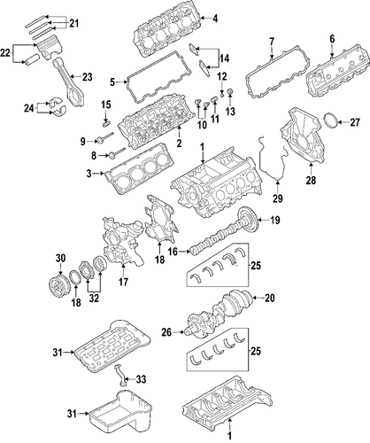 engine parts for 2004 ford f