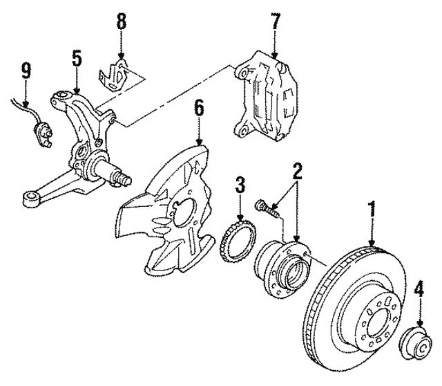 1993 2001 Mazda Abs Rotor Ga5s 26 471
