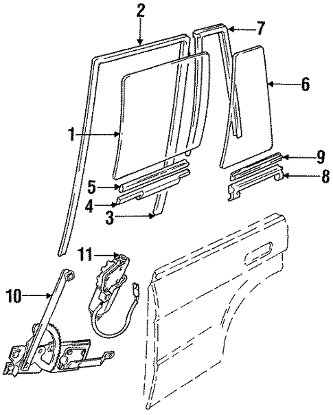 Rear Door For 1997 Land Rover Discovery