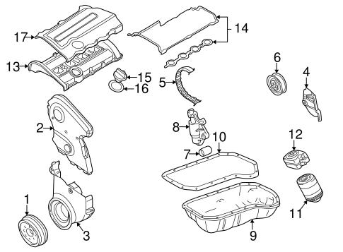 Engine Parts For 1999 Volkswagen Passat