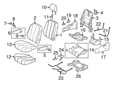 TOYOTA Genuine 79135-08020 Seat Cushion Pad