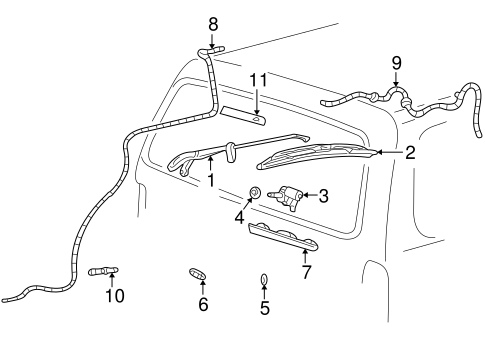 Ford Wiper Arm Assembly 2l2z17526aa