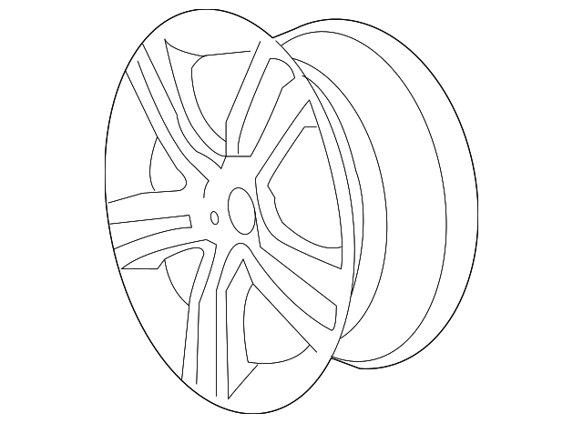 2008 2009 Pontiac G8 Wheel Alloy 92217685