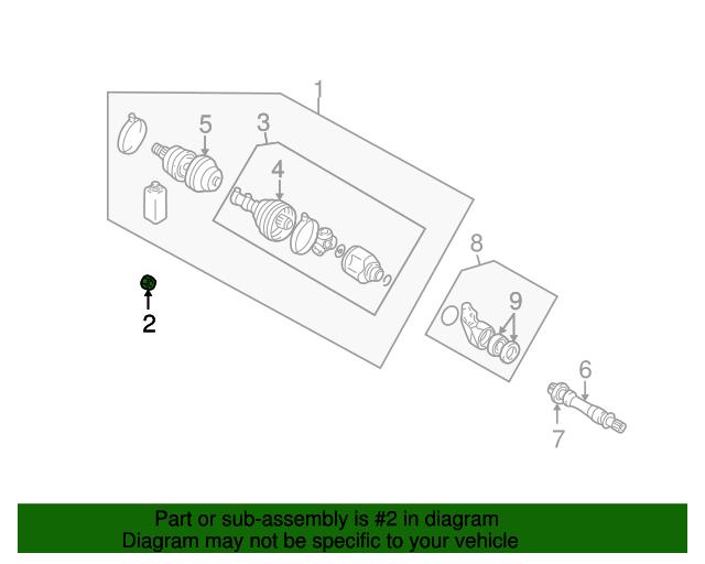 Mopar Axle Assembly Nut Mb109029 Roktoknindodgeparts. Axle Assembly Nut Mopar Mb109029. Chrysler. Chrysler Sebring Axle Diagram At Scoala.co