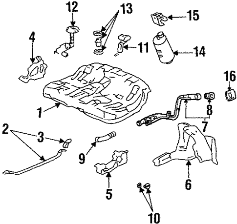Fuel System Components For 1995 Honda Prelude
