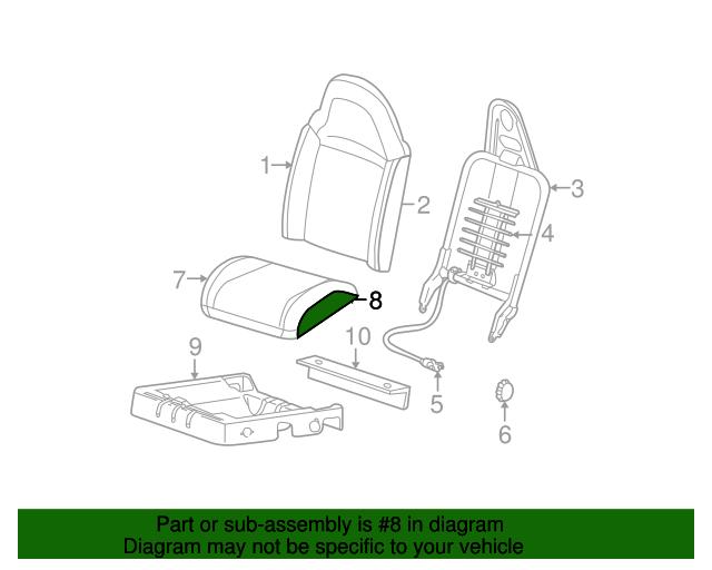1998 2003 Ford Ranger Seat Cushion Pad F87z10632a22ba
