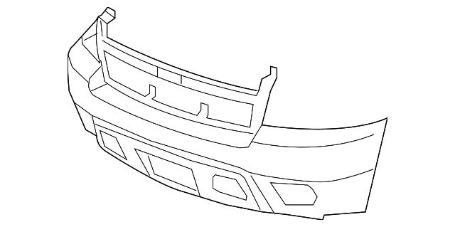 bumper cover gm 25814570 gmpartsdirect 1999 Chevrolet Avalanche manufacturer gm