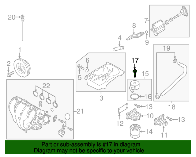 Genuine Mazda Oil Cooler Bolt LF9V-14-789